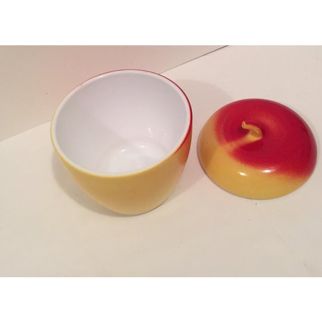 Image of Hazel Atlas Colored Milk Glass Apple Jar