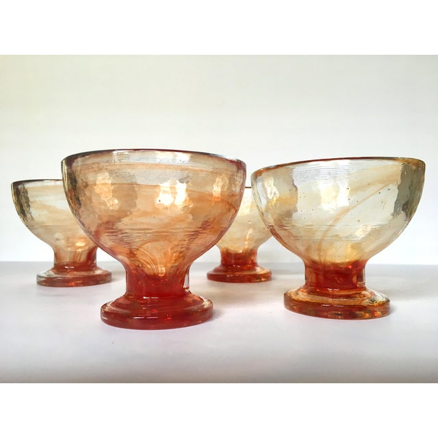 Image of Art Glass Compote Dishes- Set of 4