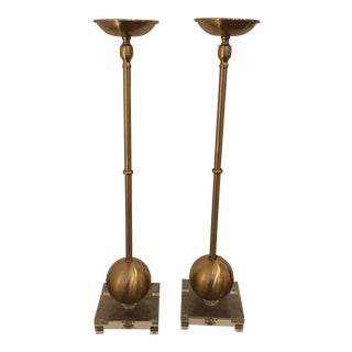 Modern Transitional Candle Holders - A Pair