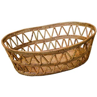 Hand Woven Basket With Open Design