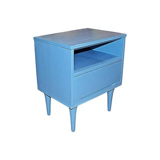 Mid-Century Modern Blue Side Table