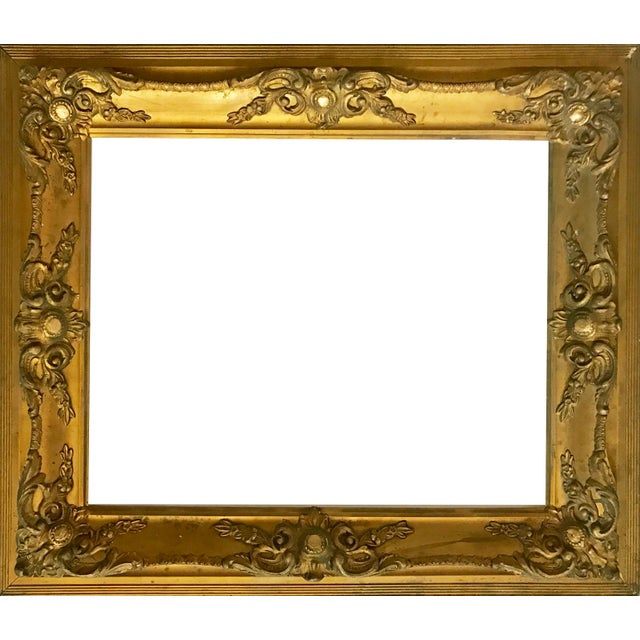 Image of Antique Gilt Carved Picture Frame