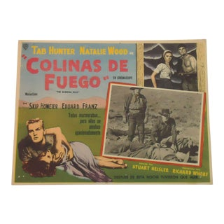 Spanish Movie Poster Tab Hunter Natalie Wood