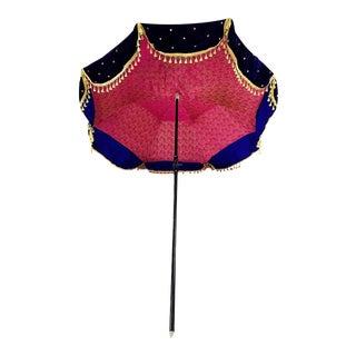 Vintage Velvet Tasseled Garden Sun Umbrella