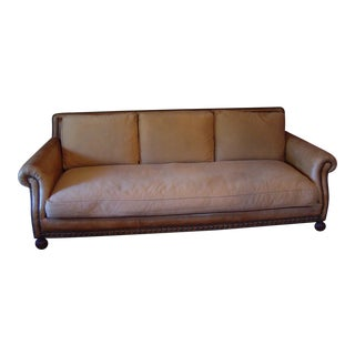 Ralph Lauren Leather Sofa From Aran Isles Collection