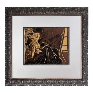 "Pablo Picasso ""Deux Femmes"" Original Linogravure Print"