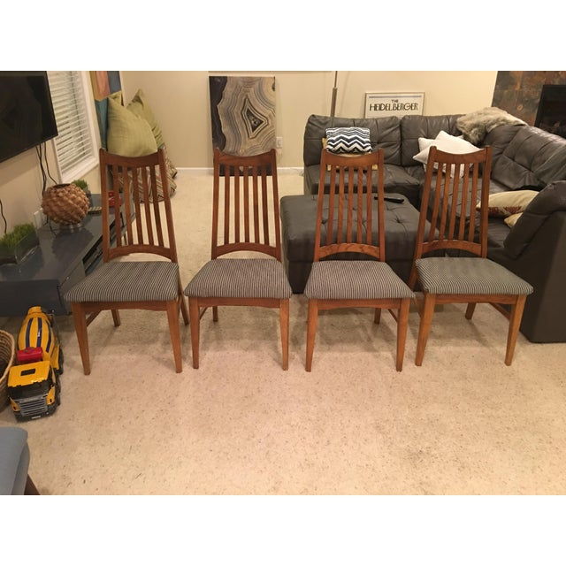 Mid-Century Modern High Back Dining Chairs - Set of 4 - Image 2 of 10
