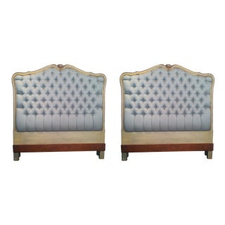 French Louis XV Style Twin Size Headboards - A Pair