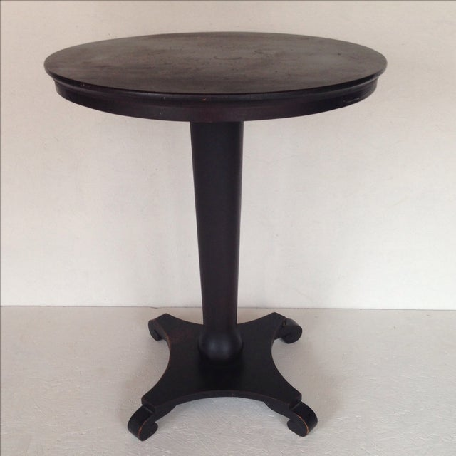 Black Empire-Style Pedestal Table - Image 3 of 6