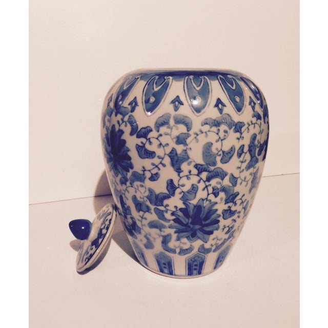 Chinoiserie Blue And White Porcelain Ginger Jar - Image 4 of 6