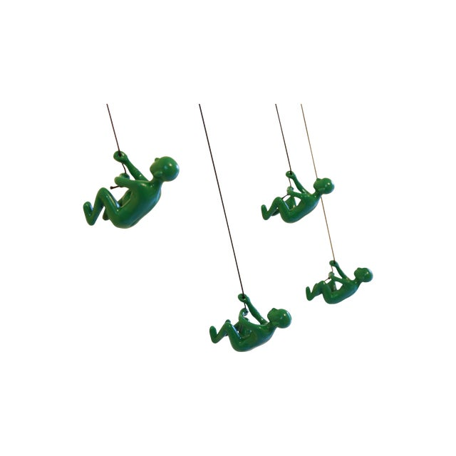 Image of Green Climbing Man Wall Art - Set of 4