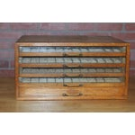 Image of Antique Early 1900's Spool Display Cabinet