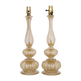 Murano Glass Lamps by Barovier - A Pair