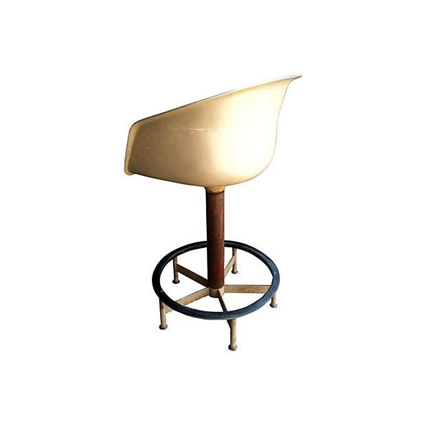 Saarinen Style Swivel Bar Stool By Burke - Image 5 of 6