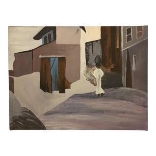 "Vintage ""Village Woman"" Original Painting"