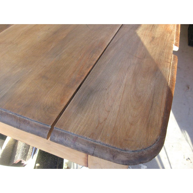 Grand Antique Farm Kitchen Table, 10' Length - Image 4 of 9