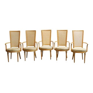 Louis XVI Style Caned Armchairs - Set of 5