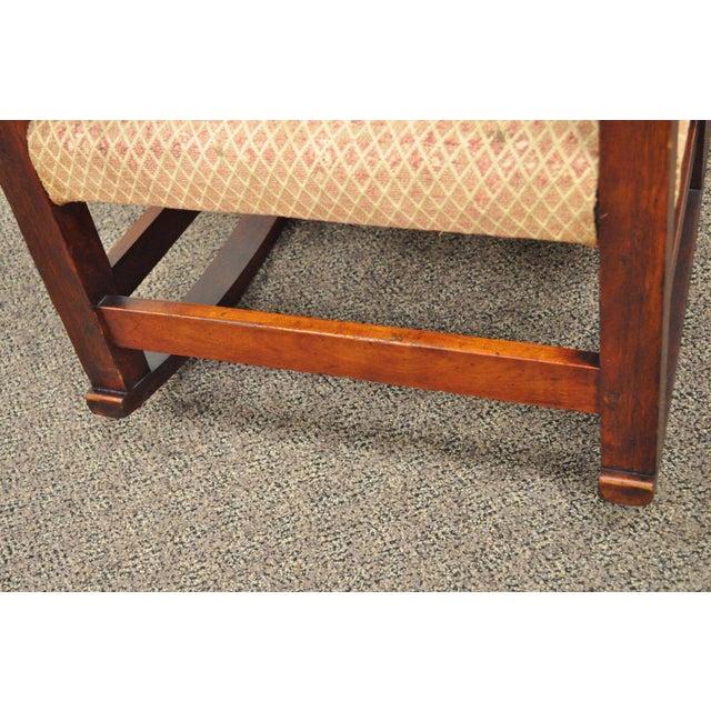 Antique Solid Maple Mission Arts & Crafts Rocker Rocking Chair Stickley Era - Image 9 of 10