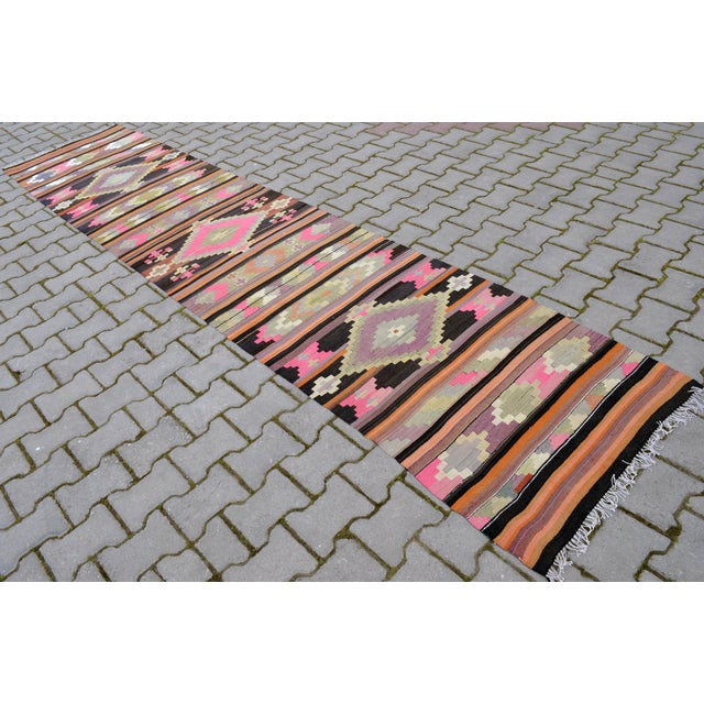 Hand Woven Vintage Turkish Runner - 2′7″ × 9′2″ - Image 4 of 10