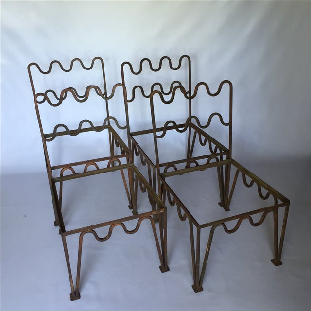 1940s Sculptural Modernist Iron Patio Chairs - 4 - Image 6 of 11