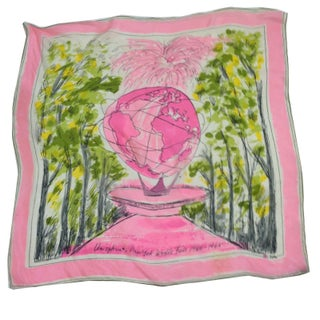 World's Fair 1964 Unisphere Silk Scarf Vera