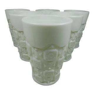 Milk Glass Tumblers- Set of 6