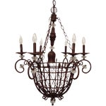 Image of Oil Rubbed Bronze Candle Style Chandelier