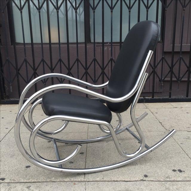 Milo Baughman Style Rocking Chair  Chairish