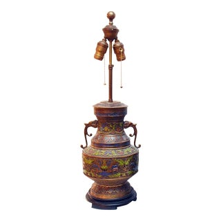 Bronze Champleve' Table Lamp