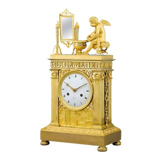 Fire-Gilded Empire Pendulum Clock