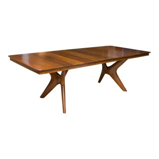 Mid-Century Italian-Influence Teak Dining Table