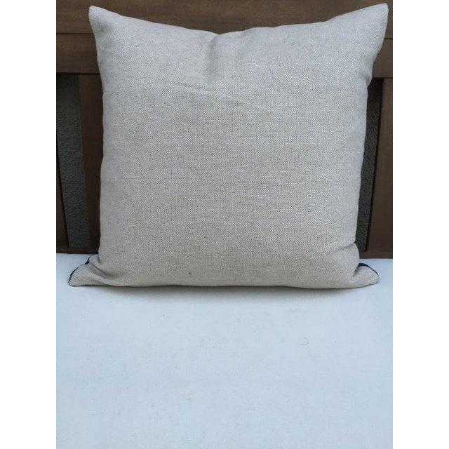 Vintage Indigo Textile Pillow - Image 3 of 5
