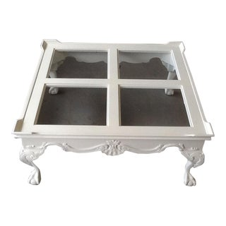 White Gloss Lacquer & Glass Coffee Table