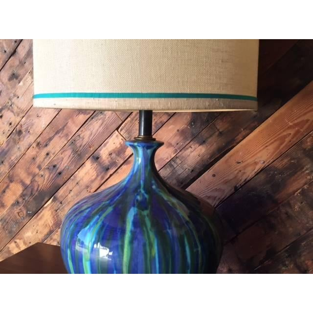 Mid-Century Ceramic Drip Glaze Lamp - Just 1 Available - Image 5 of 6