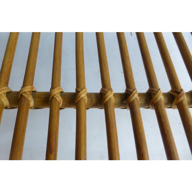 Vintage Mid-Century Bamboo Coffee Table - Image 5 of 9