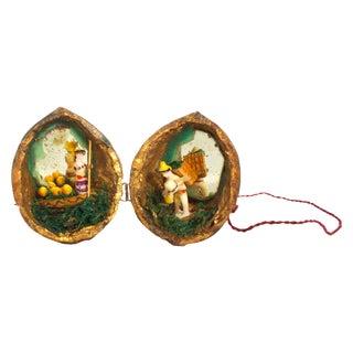Miniature Walnut Shell Diorama