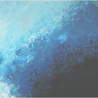 Sky #3 Abstract Blue Painting by C. Plowden