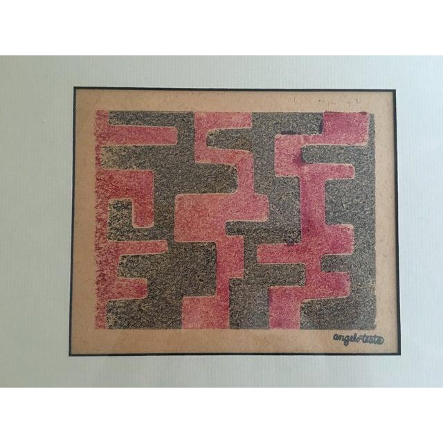 Image of Angelo Testa Mid-Century Geometric Print