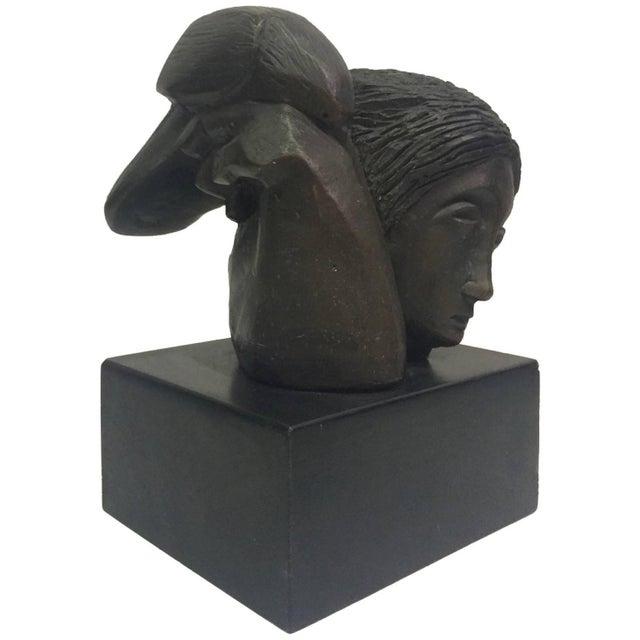 "Sunol Alvar Sculpture ""Mujer Con Paloma II"" - Image 1 of 6"