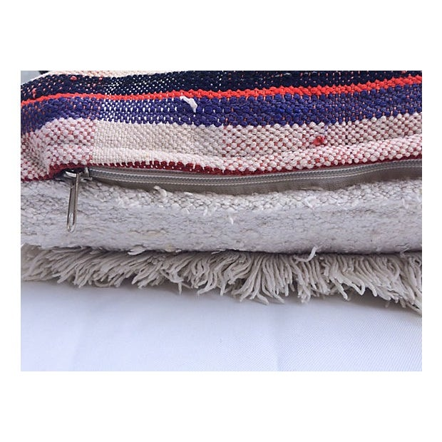 Oversized Moroccan Handira Lumbar Pillow - Image 6 of 7