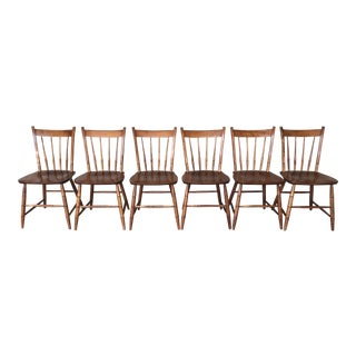 Hitchcock Style Arrow Back Farmhouse Maple Side Chairs - Chair