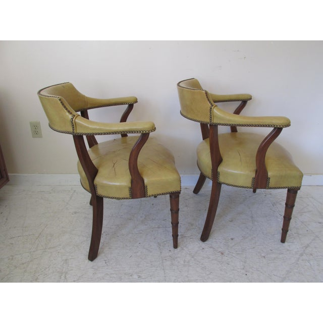 Vintage Butterscotch Leather Armchairs - A Pair - Image 4 of 11