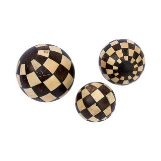 Decorative Coconut Balls - Set of 3