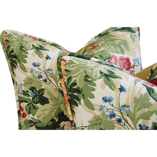 Custom P. Kaufmann Floral Bouquet Pillows - Pair - Image 4 of 8