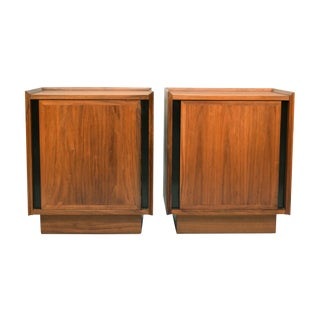 Mid-Century Dillingham Walnut Nightstands - Pair
