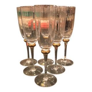 Elements Handmade Champagne Flutes - Set of 6