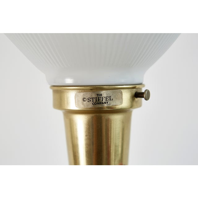 Hollywood Regency Brass Stiffel Lamps - Pair - Image 3 of 4