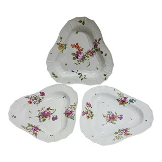 Antique Royal Vienna Triangle Dishes - Set of 3