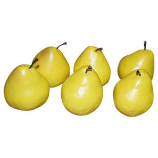 Artificial Yellow Pears - Set of 6