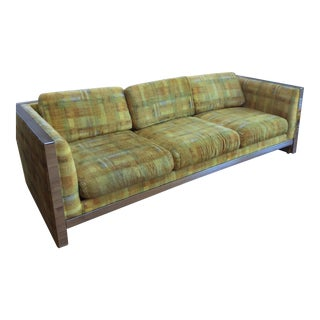 Milo Baughman Style Sofa in Chrome